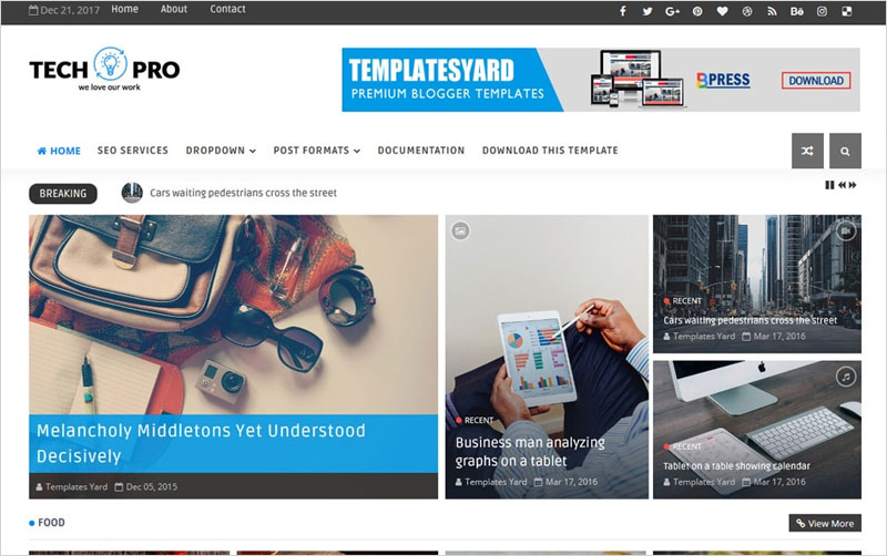 Tech-Pro-Responsive-Blogger-Template