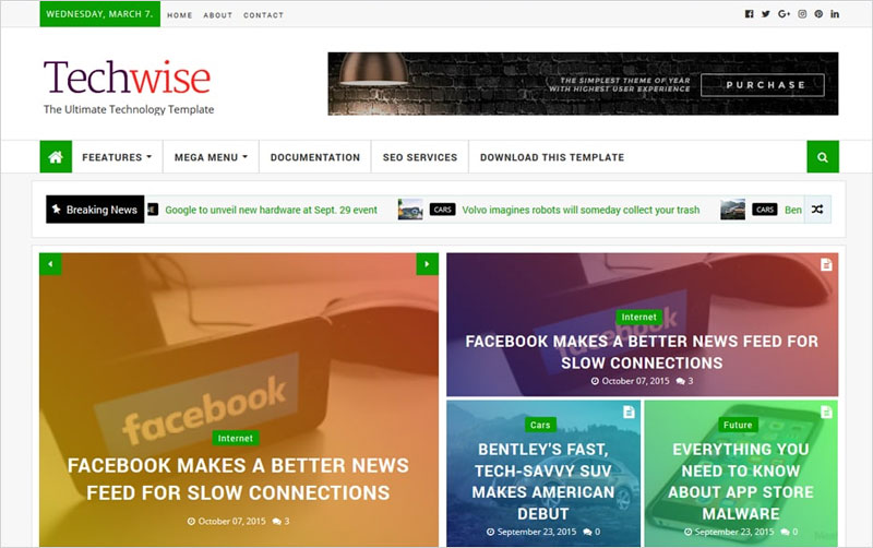 Techwise-Magazine-Blogger-Template