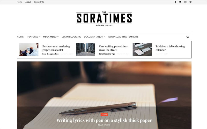 Times-Responsive-Blogger-Template