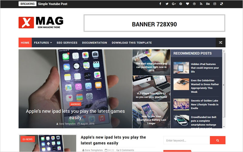 X-Mag-Responsive-Blogger-Template