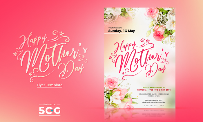 free mothers day flyer template 2018