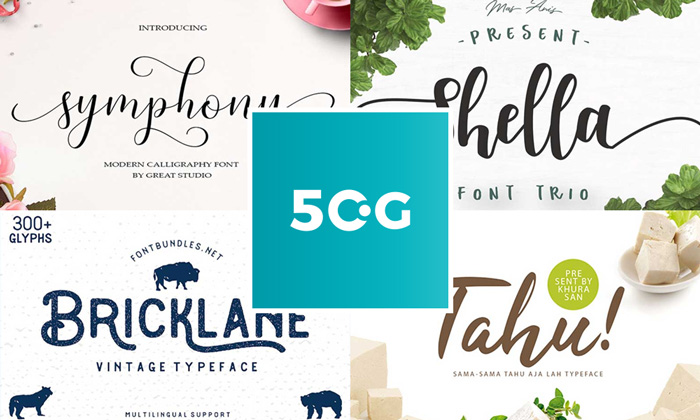 50 Free Modern Fonts For Graphic Designers 2018