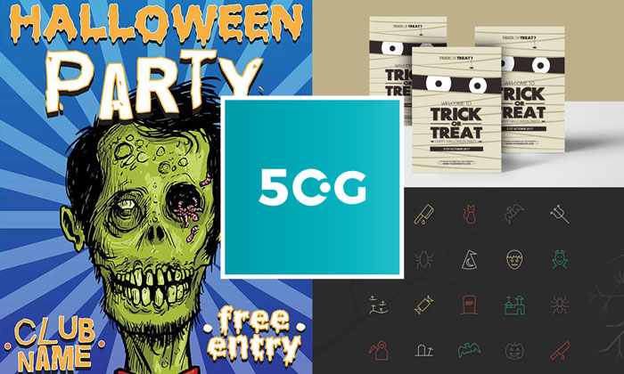50 best free halloween icons flyers brochures and invitations for