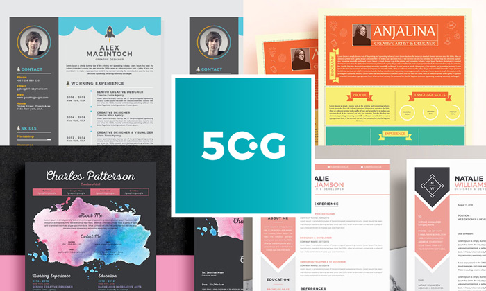 50 New And Trendy Free CV Resume Design